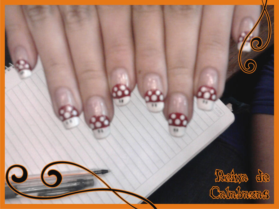 Mario bros nail art by anubis-pumpkinqueen on DeviantArt