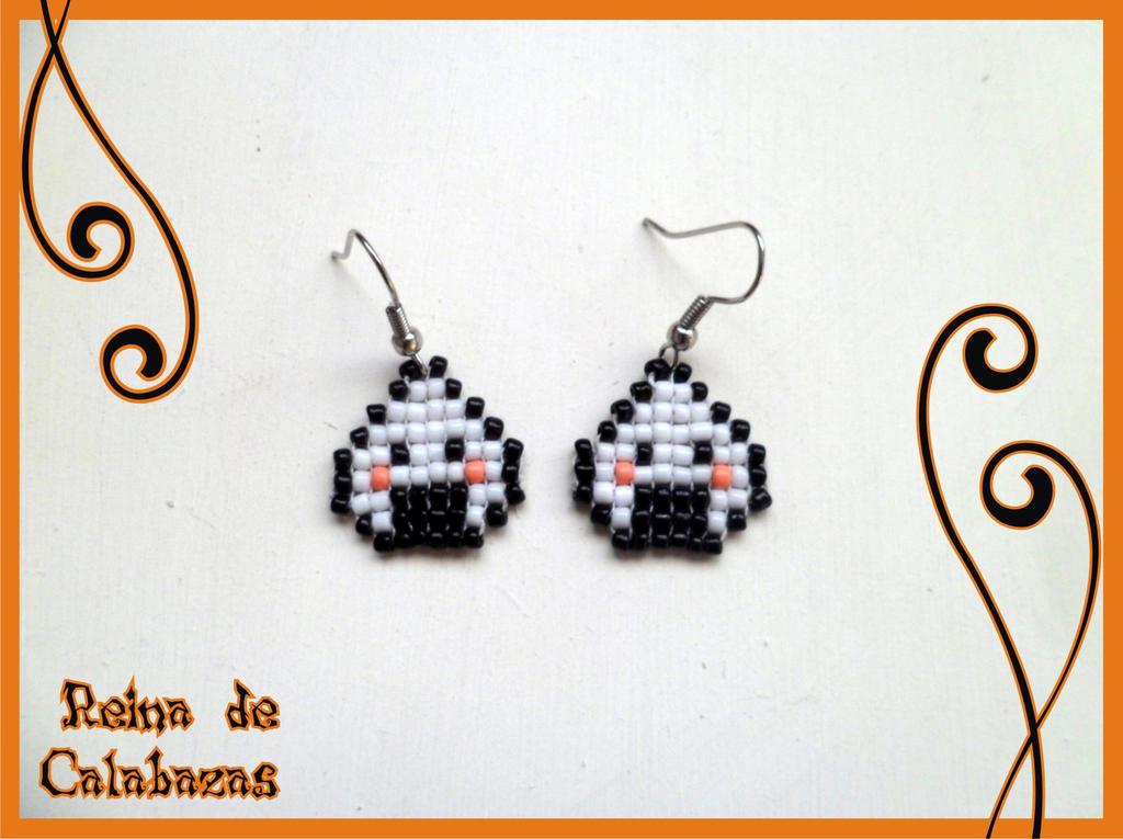 Onigiri Earrings by anubis-pumpkinqueen