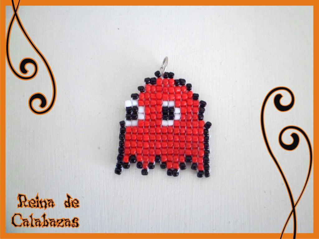 Pacman ghost charm by anubis-pumpkinqueen