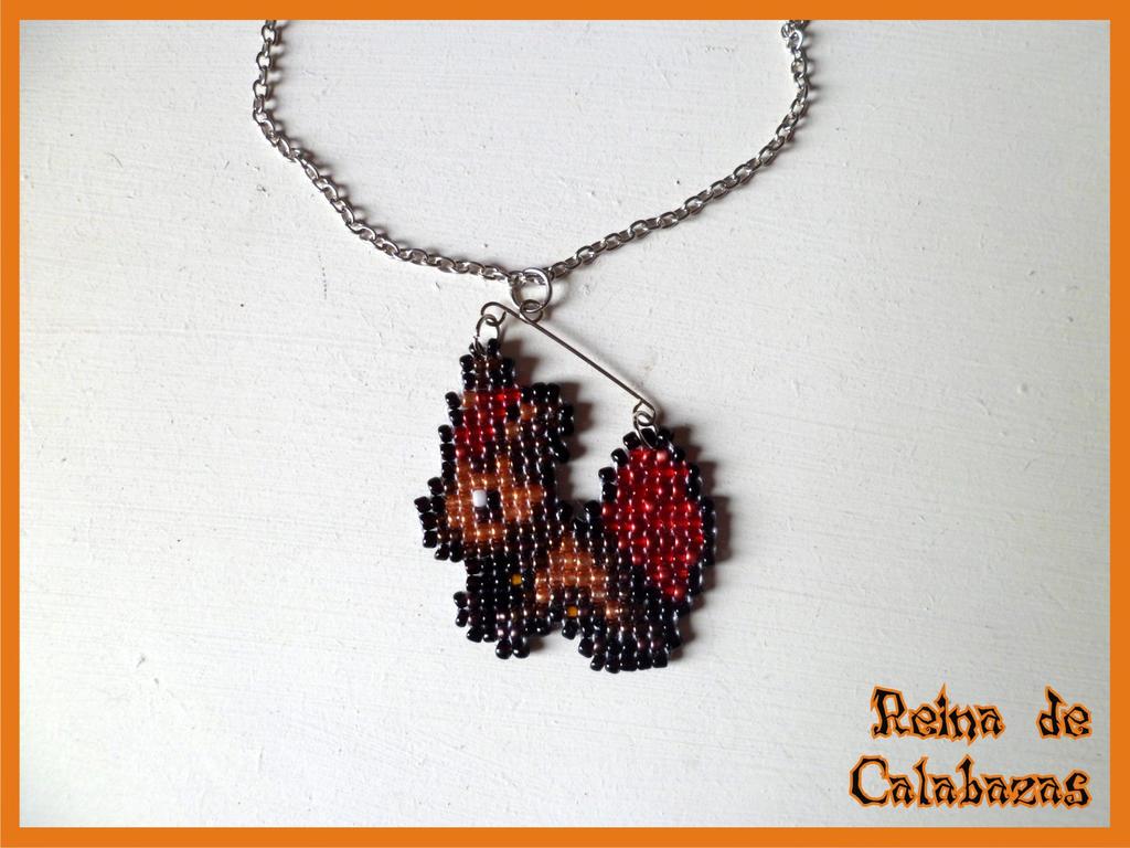 Vulpix pixel charm by anubis-pumpkinqueen