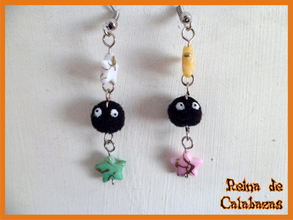 Soot Sprites earrings by anubis-pumpkinqueen