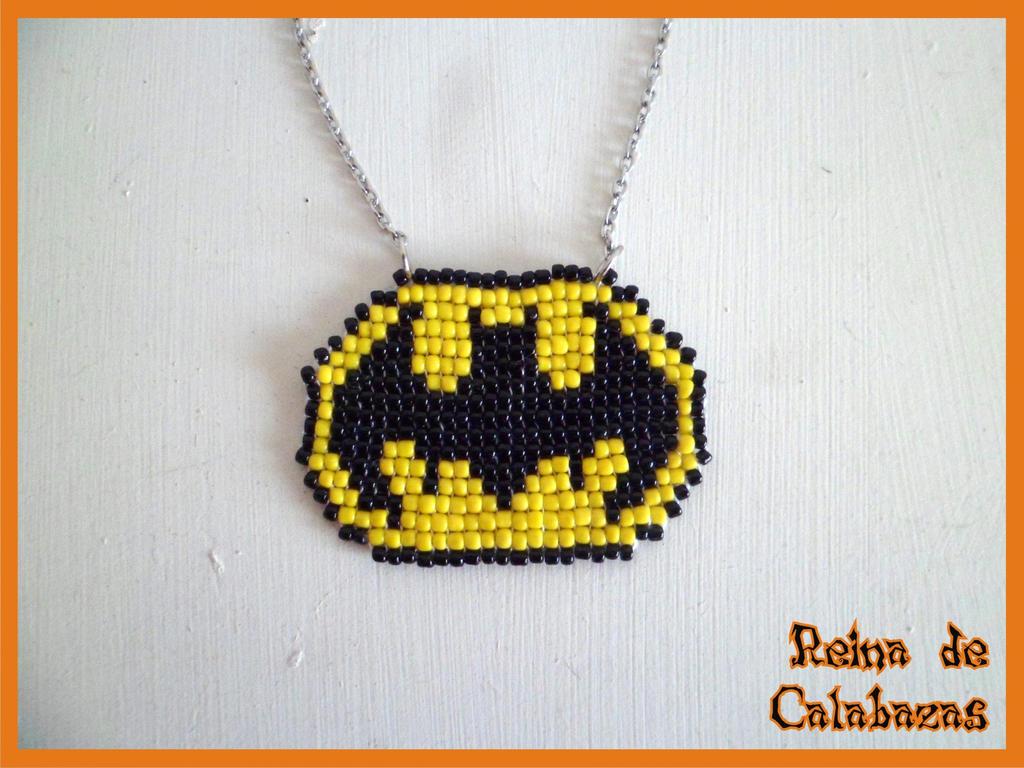 Batman Pixel pendant by anubis-pumpkinqueen