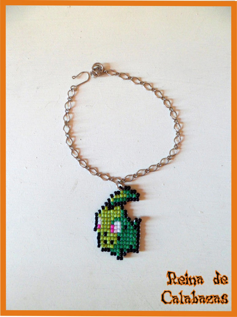 Chikorita bracelet by anubis-pumpkinqueen