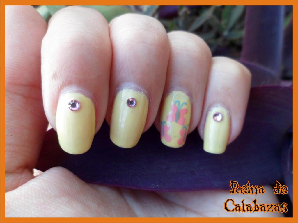 Fluttershy nails by anubis-pumpkinqueen