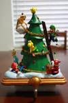 Mario Christmas Tree Figure