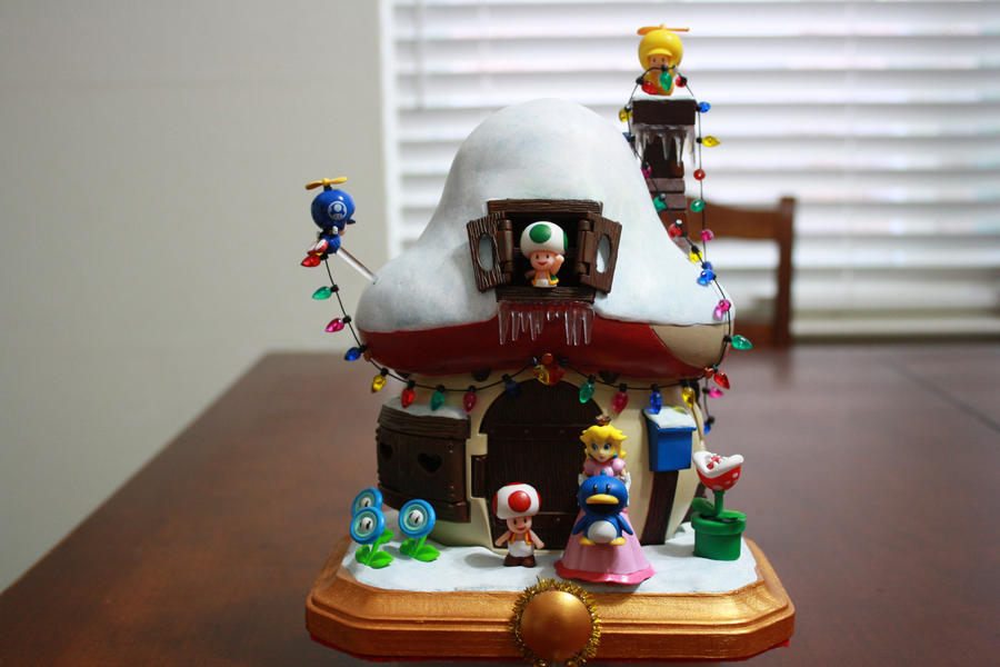 Toad House Christmas Figure by kodykoala