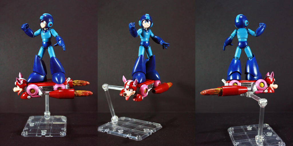 Megaman Riding on Rushjet Figure by kodykoala