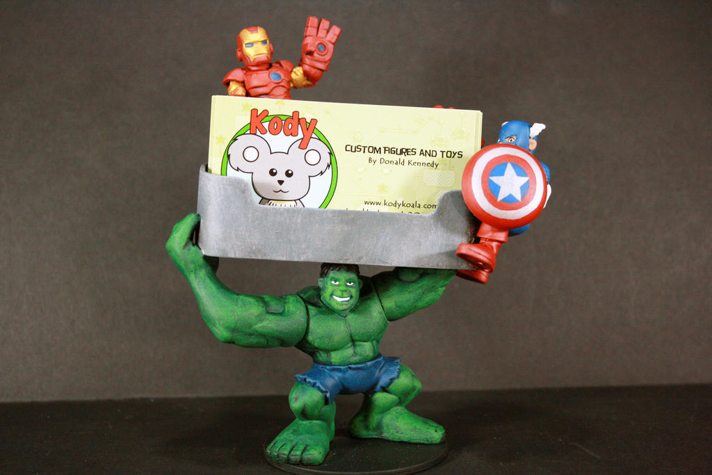 Avengers Custom Business Card Holder by kodykoala