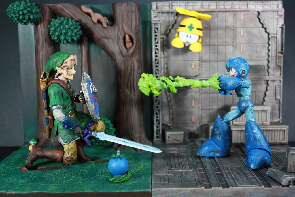 Megaman Vs. Link Figure by kodykoala