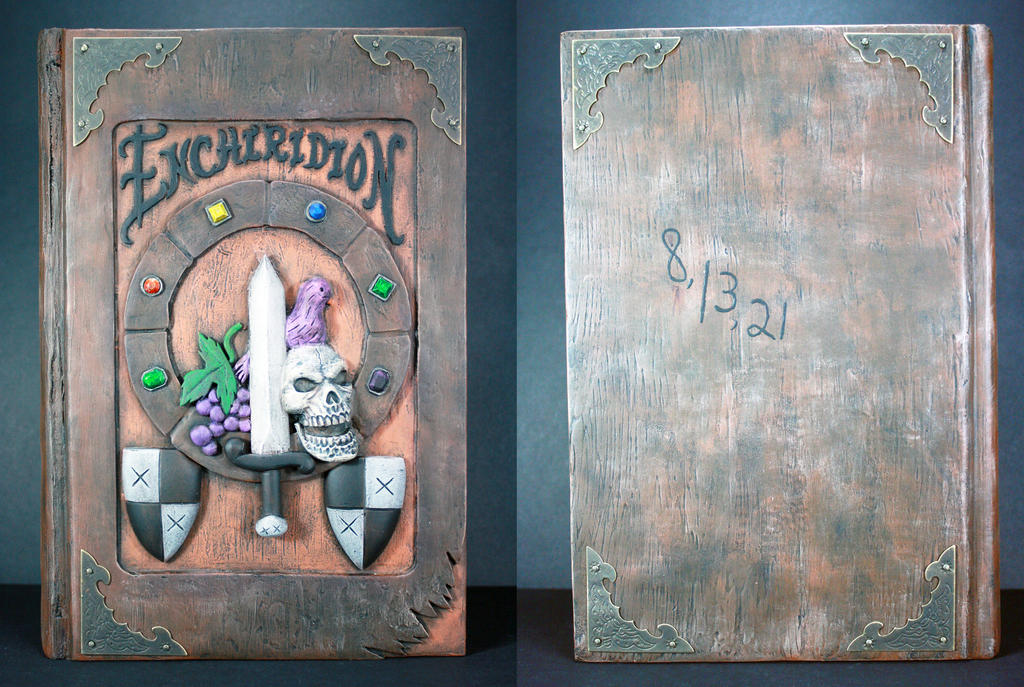 Custom Enchiridion Book Box Hidden Storage by kodykoala