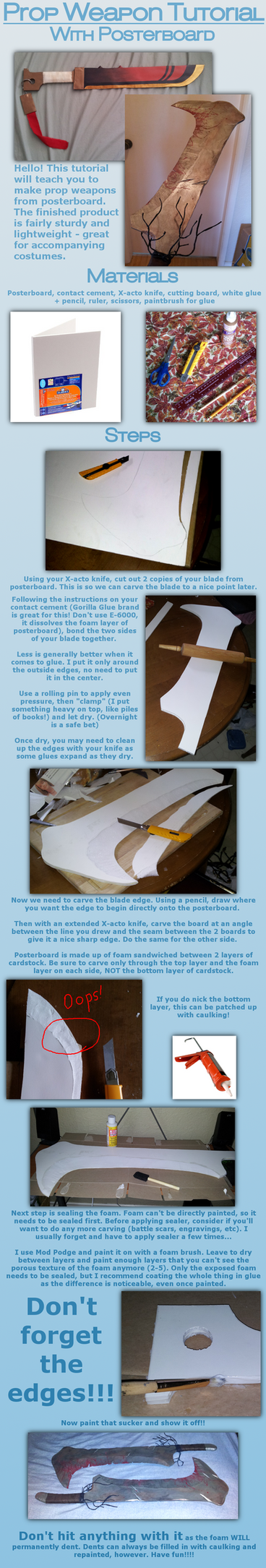 Prop Weapon Tutorial (Posterboard) by willowfall
