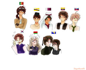 The Hetalia character drawing project part 1