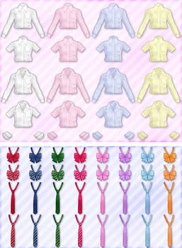 mmd shirts+ties+ribbons pack dl