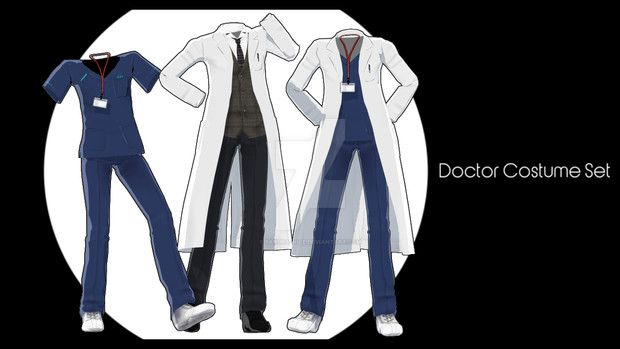 mmd doctor costume set by sakura-nice