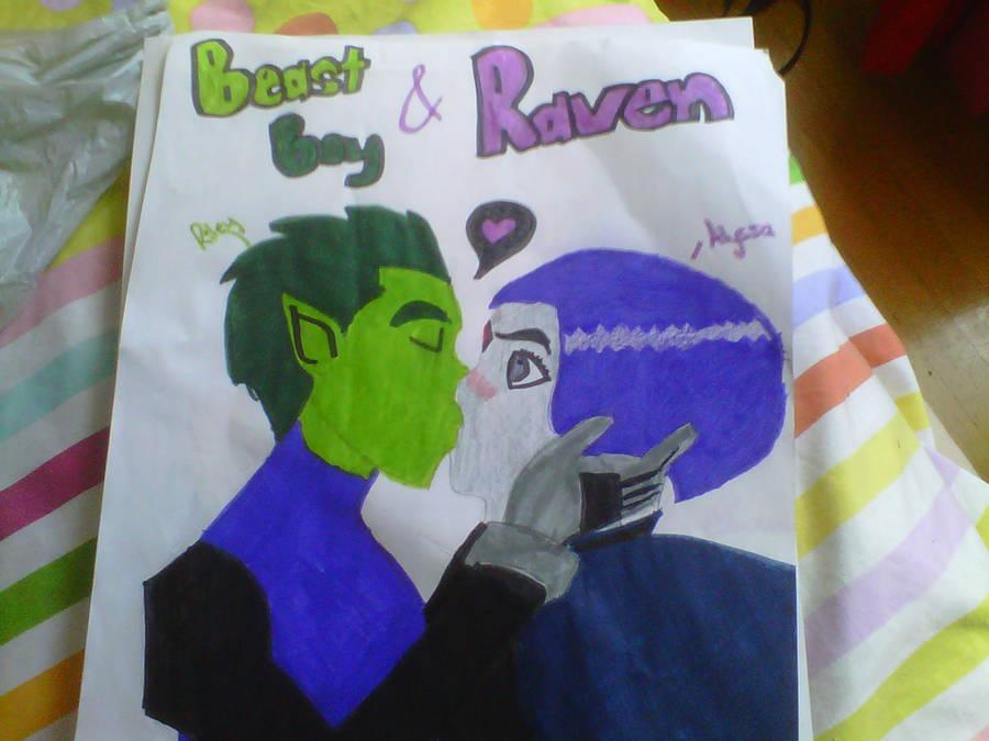 Beast Boy and Raven Love by JessiJayWillis