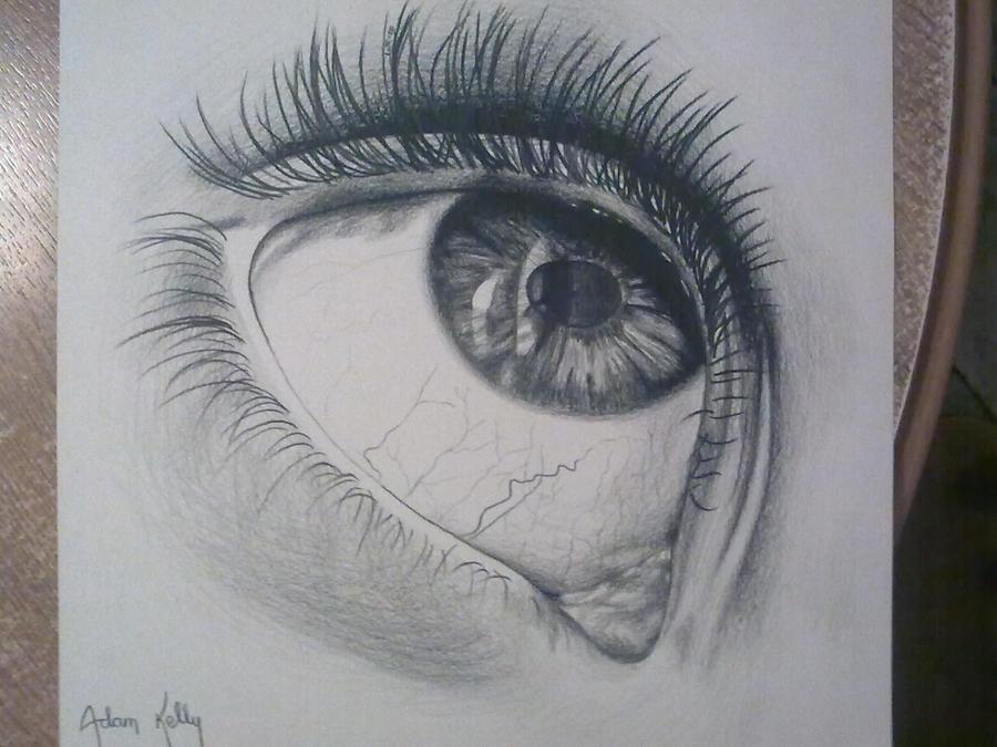 eye looking up by AdamJAK on DeviantArt
