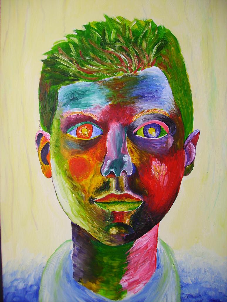 Abstract self portrait by adamjak