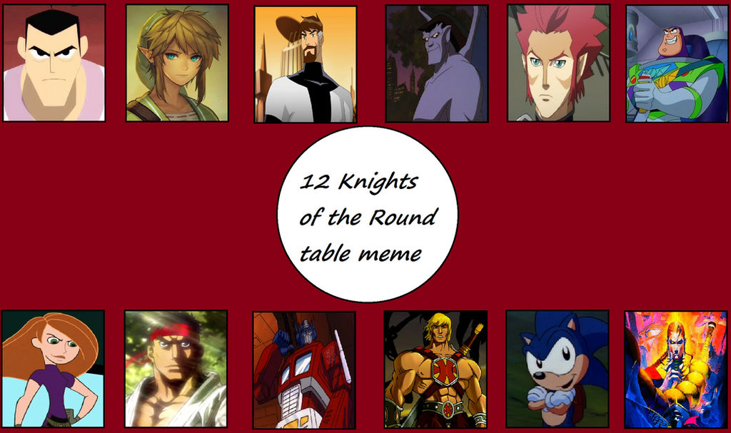 12 Knights Of The Round Table.My 12 Knights Of The Round Table Meme By Jokussj On Deviantart