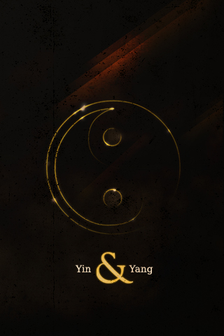 Yin Yang iPhone wallpaper by octr on DeviantArt