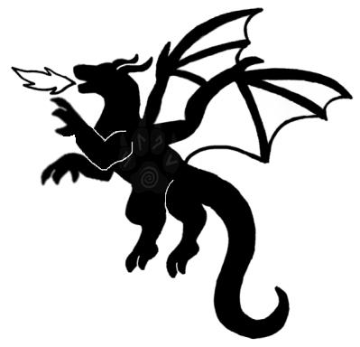 Dragon Silhouette Tattoo by PleisarPup on DeviantArt