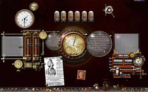 Steampunk Windows Desktop by yereverluvinuncleber