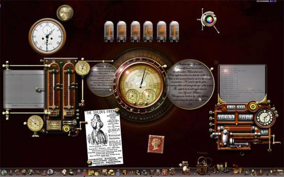Steampunk Windows Desktop