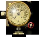 Steampunk CPU Gauge Icon by yereverluvinuncleber