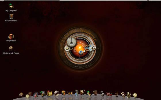 Linux Steampunk desktop MkI