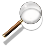 Steampunk Magnifying Glass Search Icon