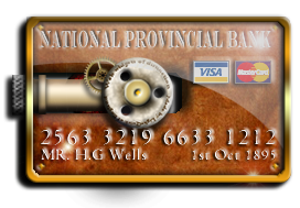 Steampunk Credit Card Icon by yereverluvinuncleber