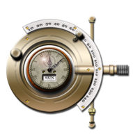 Steampunk Phopteron Clock Icon by yereverluvinuncleber