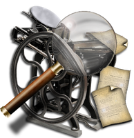 Steampunk Printer Search Icon by yereverluvinuncleber