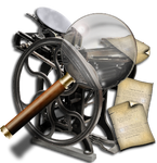 Steampunk Printer Search Icon