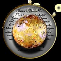 Steampunk Planetary Data Icon - IO by yereverluvinuncleber