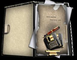 Steampunk Open Boxfile Folder Icon by yereverluvinuncleber