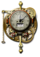Steampunk Thingummy Clock Icon by yereverluvinuncleber