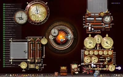 My Steampunk Desktop - 1440 x 900 pixels by yereverluvinuncleber