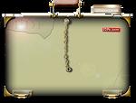 Steampunk Glass PDF Empty Folder Icon