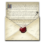 Steampunk Email Open Envelope Icon