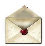 Steampunk Email Open Envelope Icon MkII