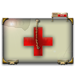 Steampunk Red Cross Help Folder Icon MkII