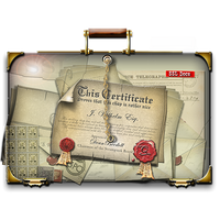 Steampunk SSL Certificate Folder Icon 512px by yereverluvinuncleber