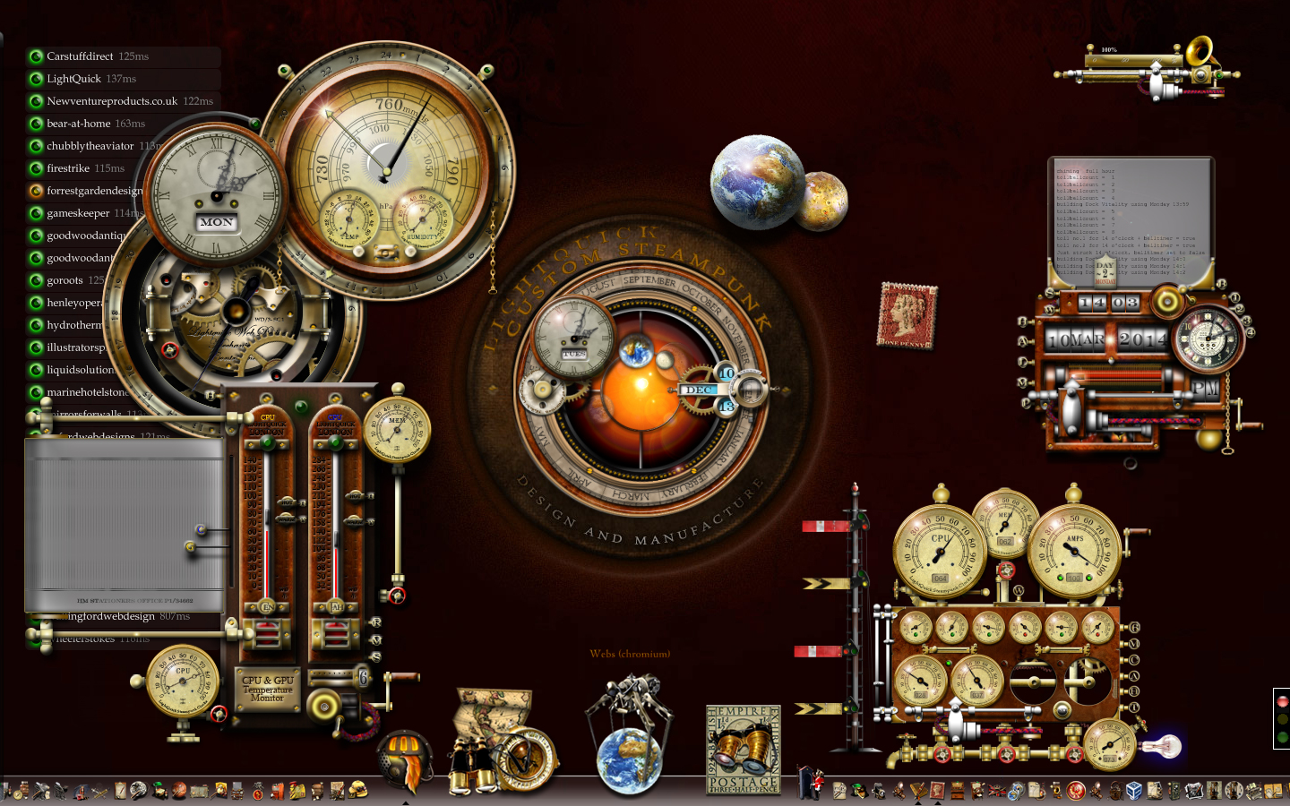 My Current Steampunk Desktop March 2014 by yereverluvinuncleber