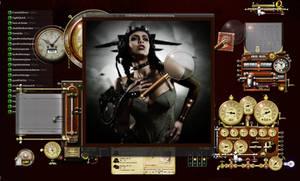 Desktop Magnified - in a steampunk manner