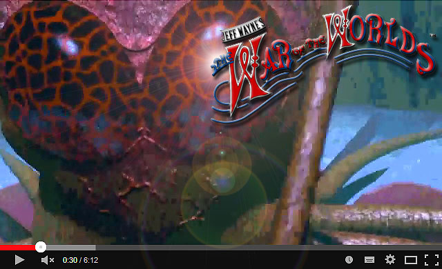 Jeff Wayne's War of the Worlds Martian Intro Video by yereverluvinuncleber