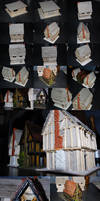 20mm Half-Timbered Houses Under Construction