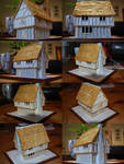 25mm Half-Timbered Houses Under Construction