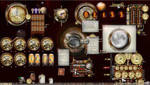 Steampunk Theme Windows 10 Desktop 1920 x 1080