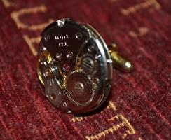 Steampunk Cufflink by yereverluvinuncleber
