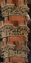Kings Cross St. Pancras carved capitals by yereverluvinuncleber